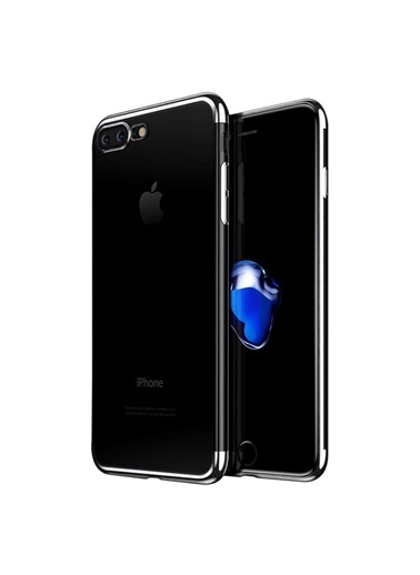 Microsonic iPhone 8 Plus Kılıf Skyfall Transparent Clear  Gümüş